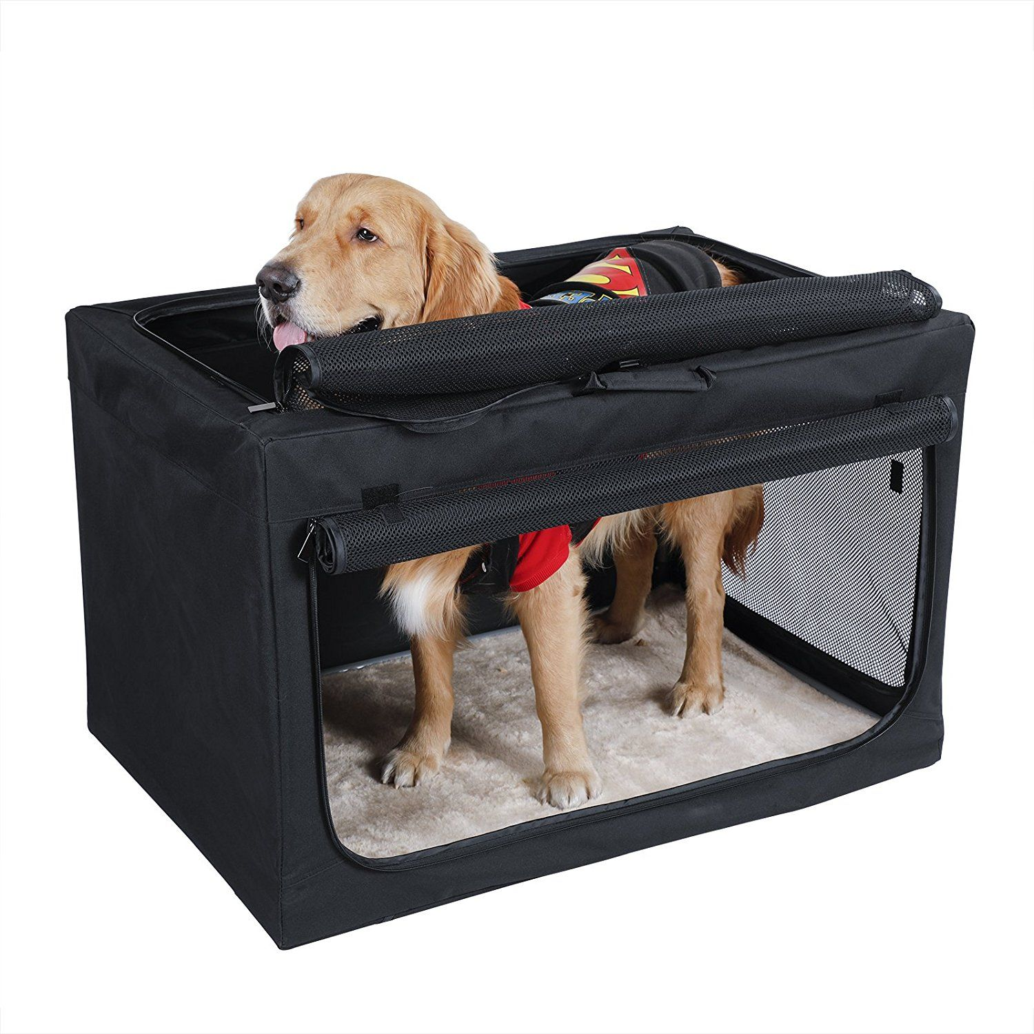 Petsfit Indoor Outdoor Soft Portable Foldable Travel Pet Dog Home Crate Cage Hope You Actually Do Enjoy Our Picture This Is An Affiliate Link