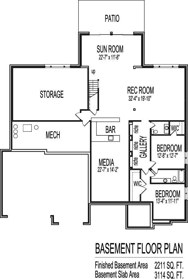 modern bungalow house floor plans design drawings 2