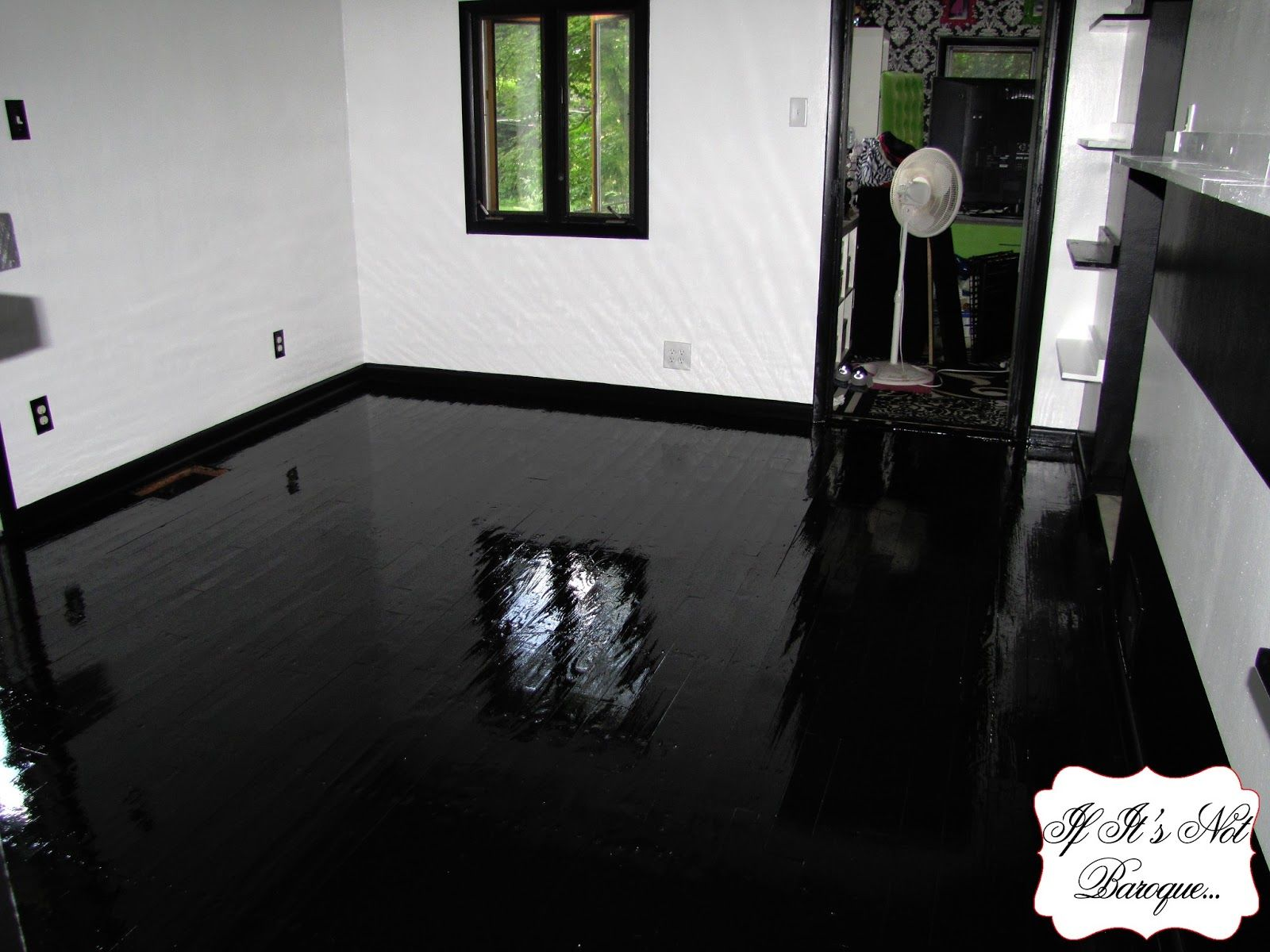 Hardwood Flooring Amusing Black And Painted Laminate Floor