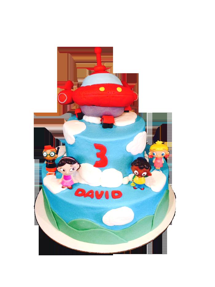 Little Einstein Birthday Cake With Rocket Ship Topper Www