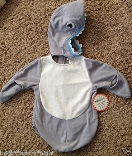 Pottery Barn Kids Baby Shark Halloween Costume Size 6 12 Months New