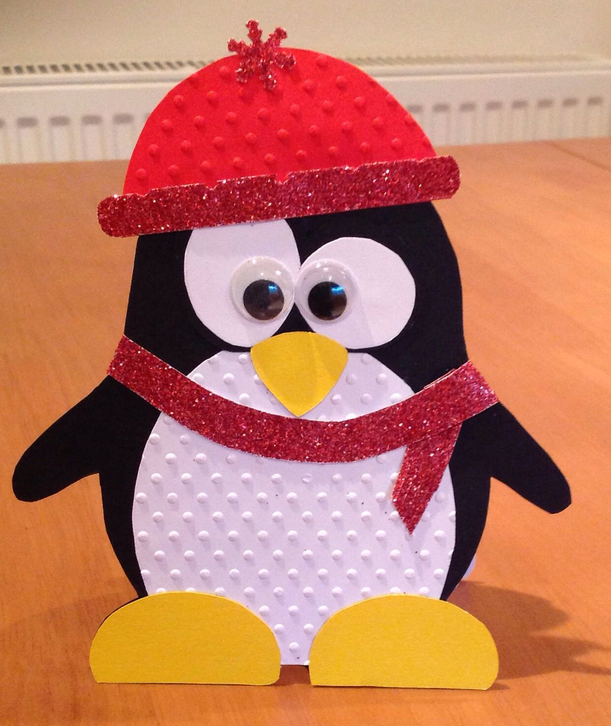 Card Making Ideas Pdf Part - 26: Handmade Penguin Card.Template From Http://www.mamadinis.com/