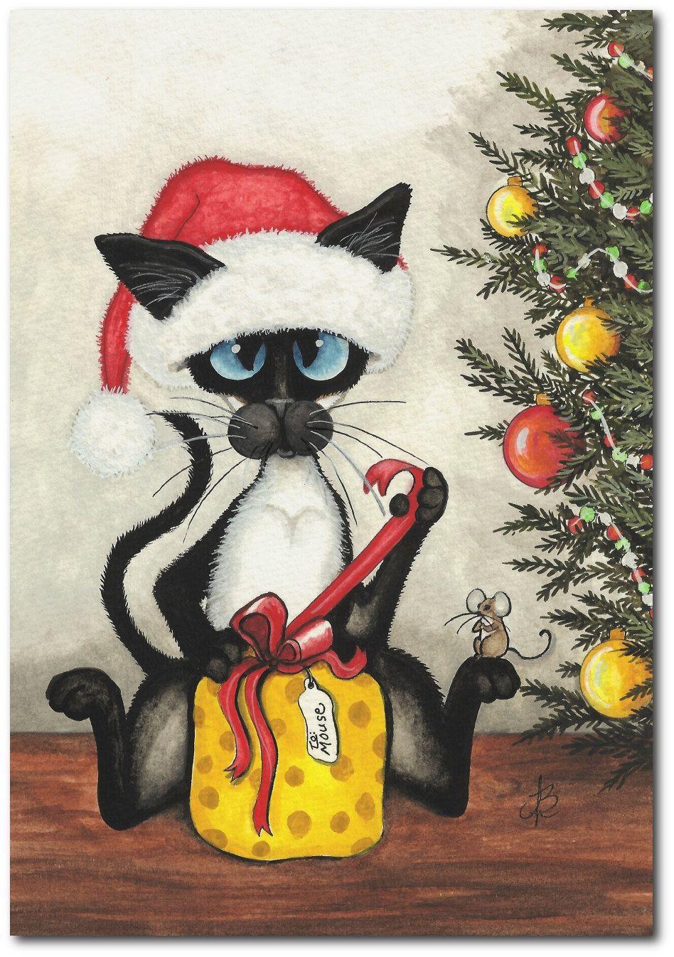мобильные поздравление на новый год рисунок карандашом котики открывает