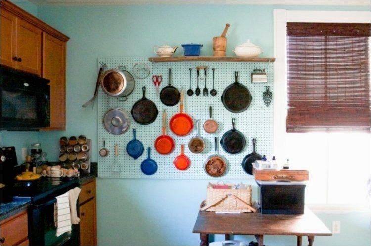 Charmant 37 DIY Creative Kitchen Pegboard Ideas   DecoRealistic