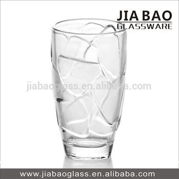 Long Drinking Glass Water Tumbler Cracked Design Clear Glass Glassware Cup View Long Drinking Glass Water Tumbler Glassware Pyrex Glassware Drinking Glass
