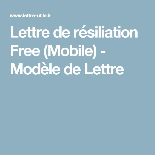 lettre de r u00e9siliation free  mobile