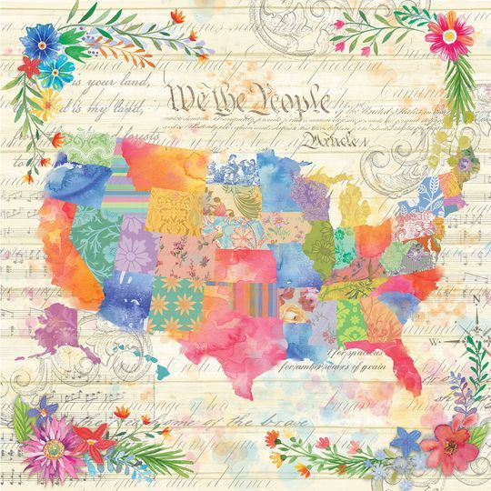 We The People Scrapbook Paper By Recollections Scrapbook Paper