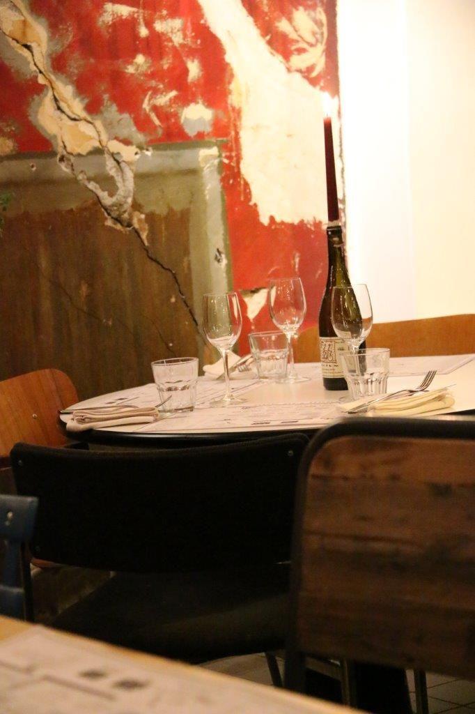 Ravintola Sandron tunnelmaa.