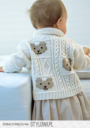 Cable and Teddybear Jacket | Knitting Fever Yarns & Eur…