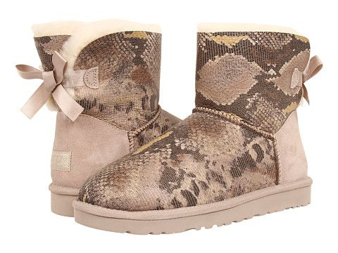 936ac3d5496 UGG Mini Bailey Bow Snake Metal - Zappos.com Free Shipping BOTH Ways ...