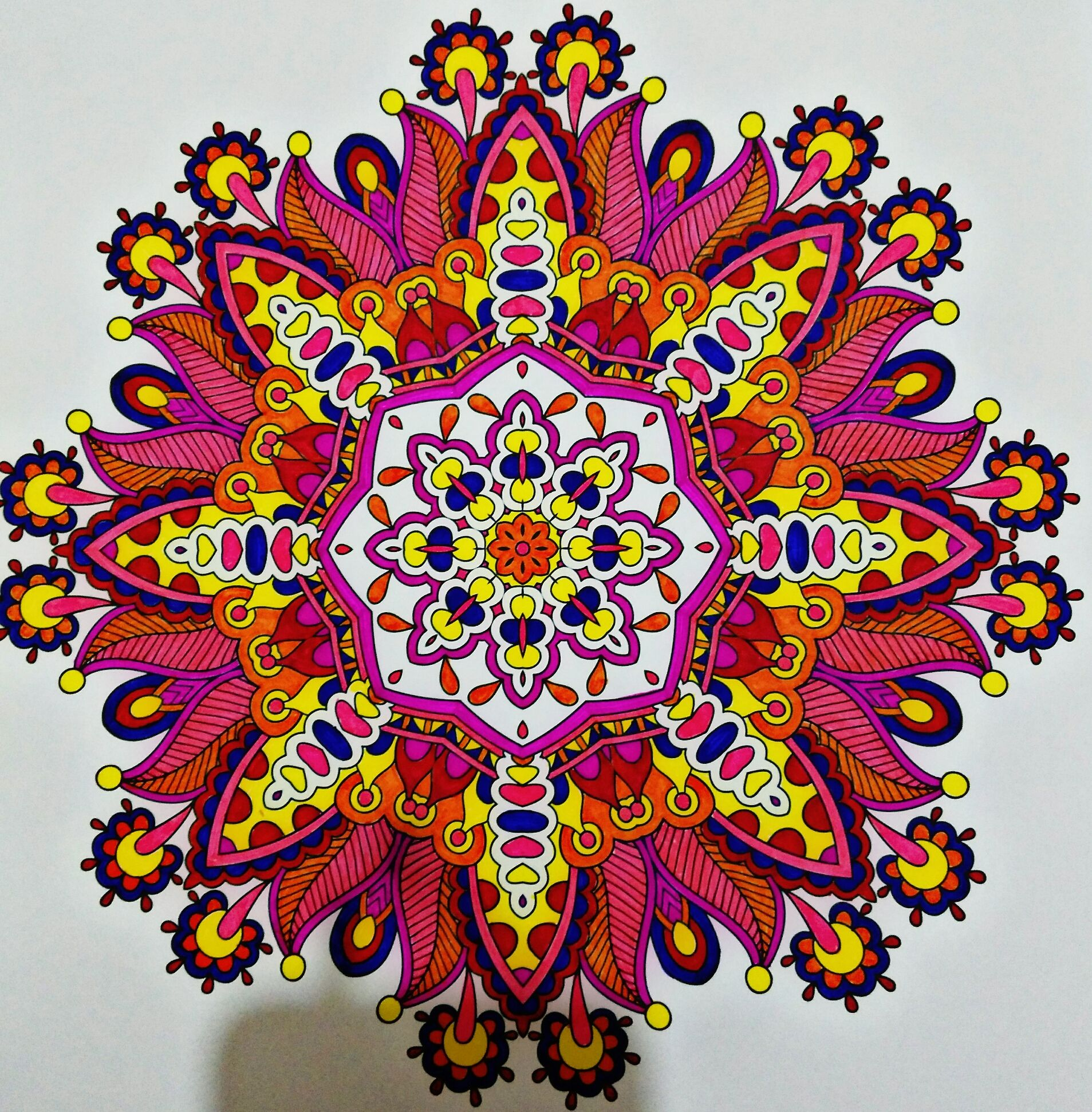 - Mandala #color #colors #colorful #painting #flower #photography