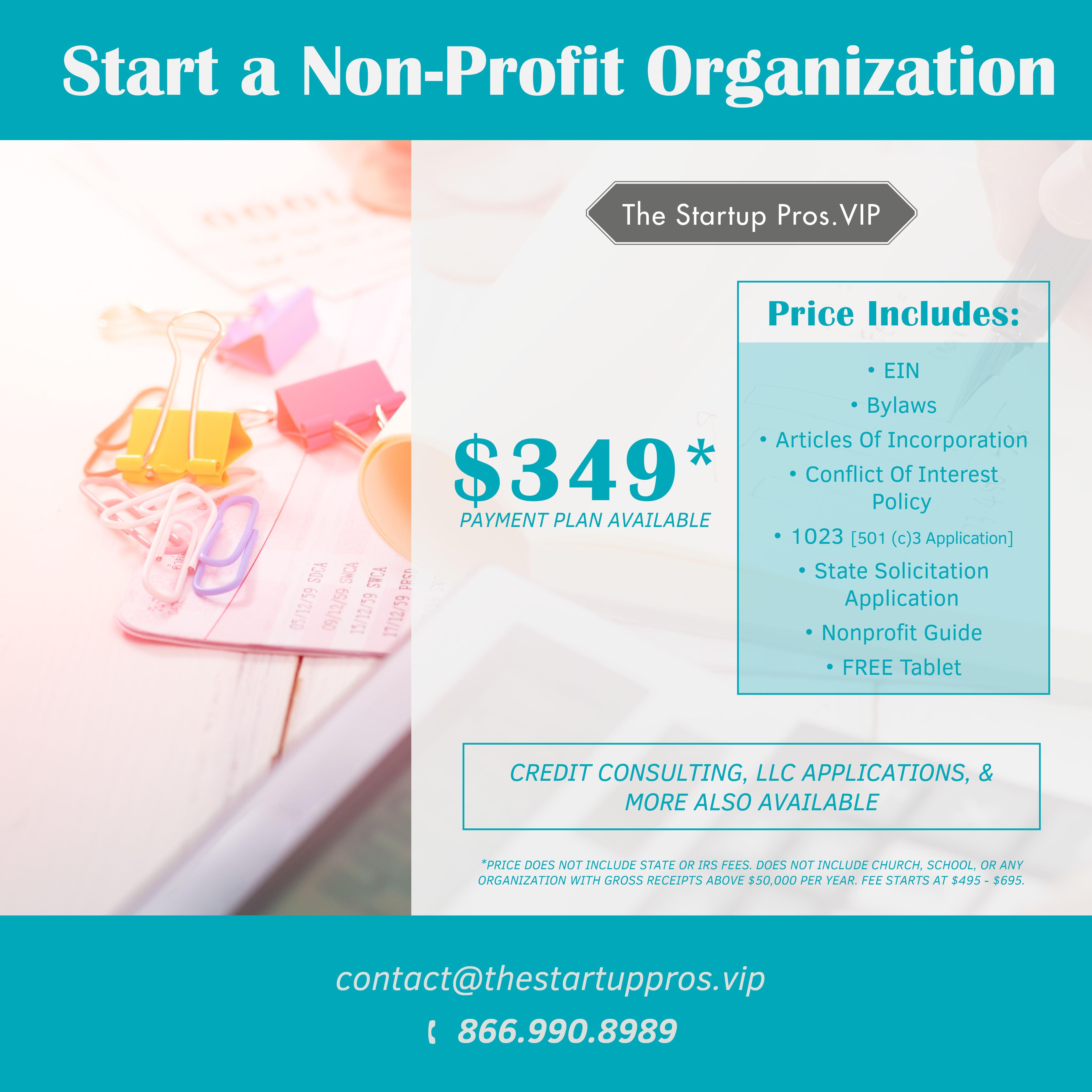 Start A Nonprofit Today Non Profit Nonprofit Organization Organization