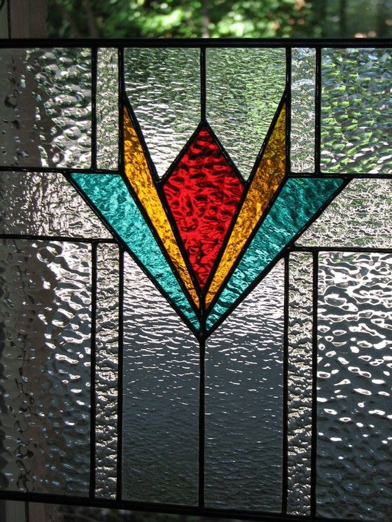 Geometric Stained Glass Panel 12 X 12 Stained Glass Panels Stained Glass Diy Stained Glass