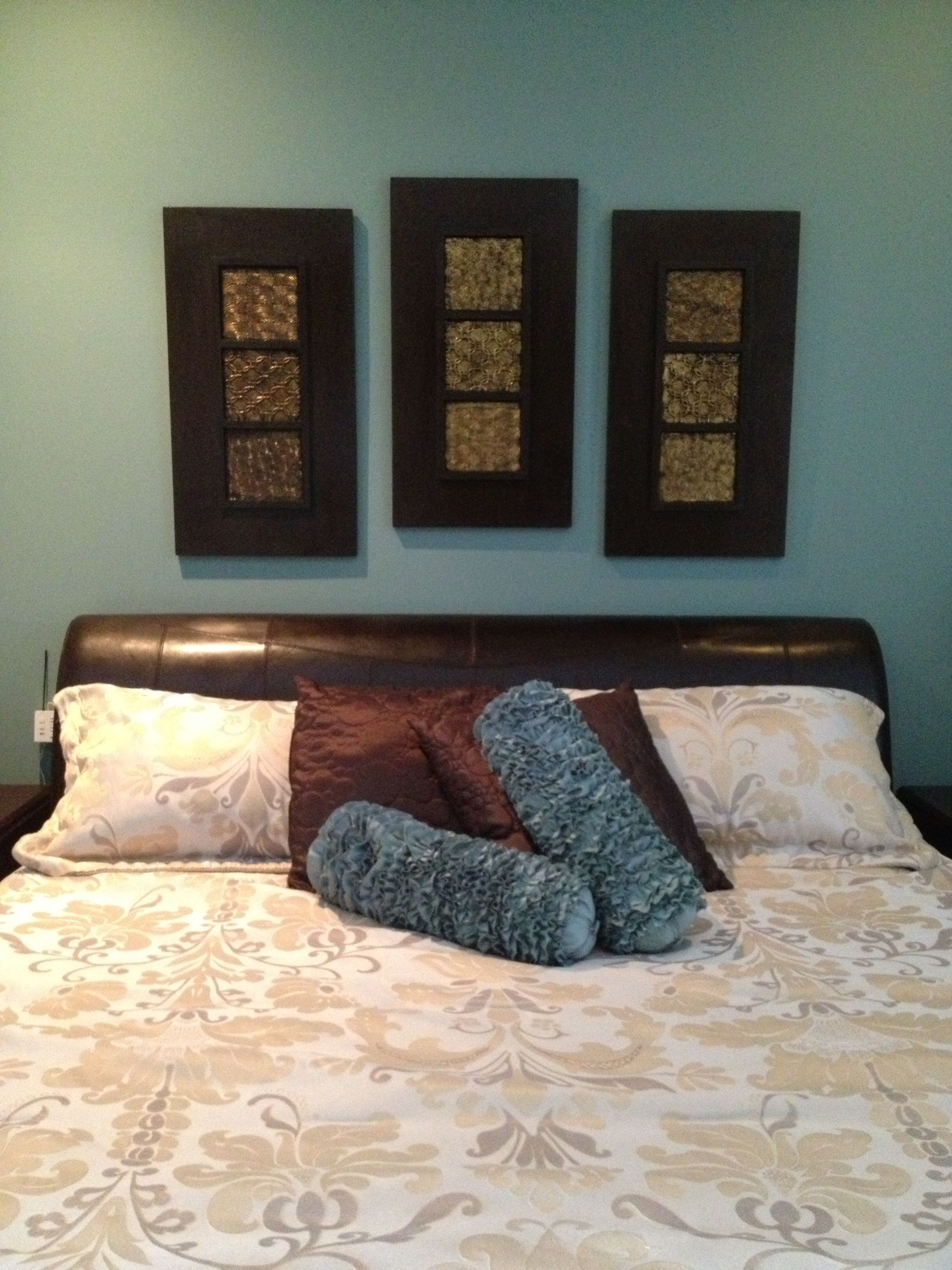 Teal Brown Gold And Cream Master Bedroom Update