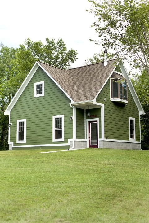 The knot your personal wedding planner for the home - Green exterior paint color schemes ...