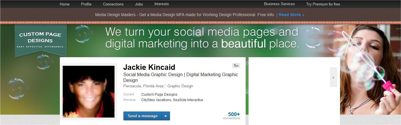 My Linkedin Profile banner. (With images) Social media