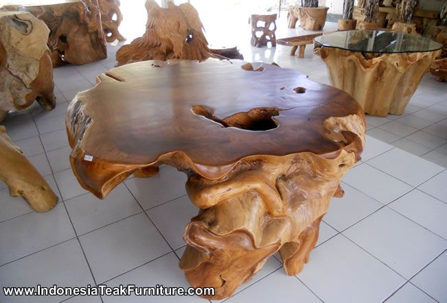 Manufacturer And Exporter Company For Root Furniture And Handicrafts Made  In Indonesia. Root Wood Furniture Made In Indonesia. Teak Root Table From  Java.