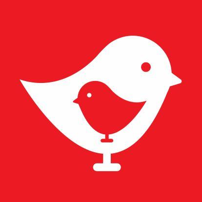 Geboortekaartjes - Geboortekaartje - Vogeltje Rood