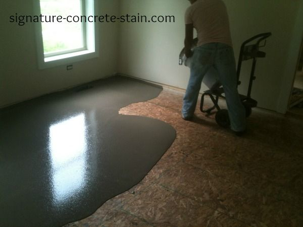 Ardex Liquid Backerboard Over Wood Subfloor To Allow Stained Concrete Flooring In A Home With Crawl E Vs Slab