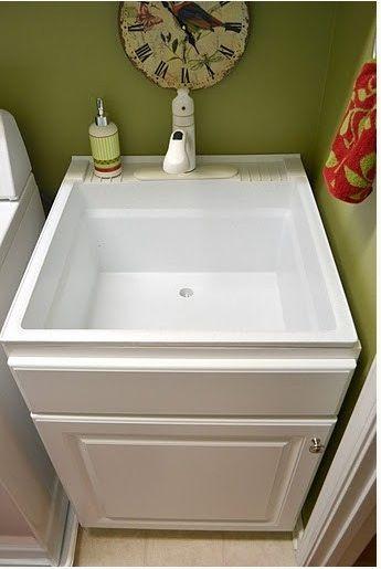 utility sink inside base cabinet | Laundry Room | Pinterest ...