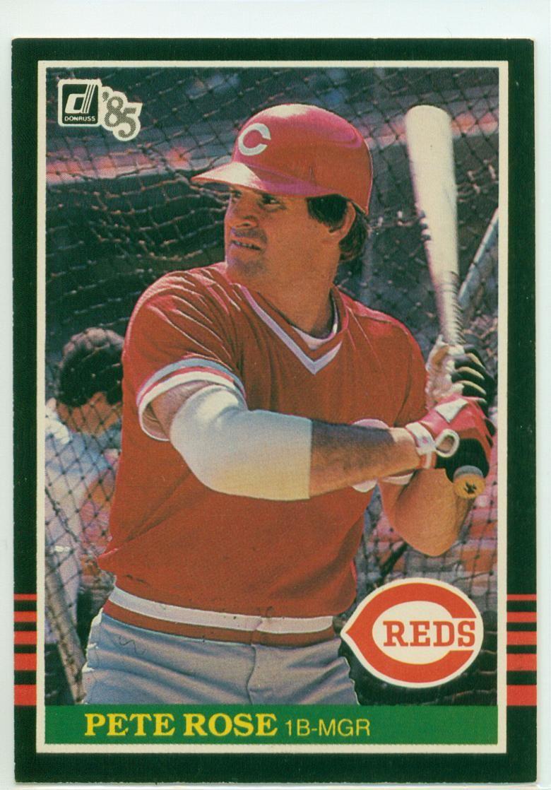 Pete Rose 1985 Pete rose, Cincinnati reds, Baseball