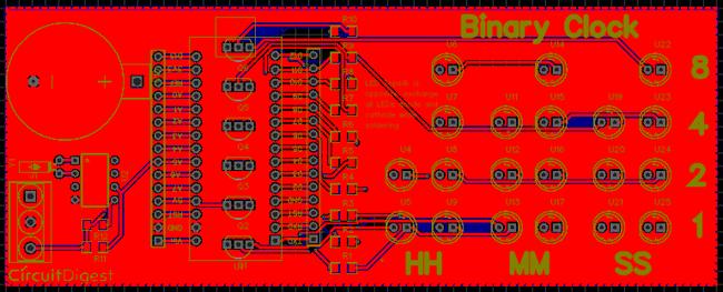 Binary Clock PCB design using EasyEDA   electronics