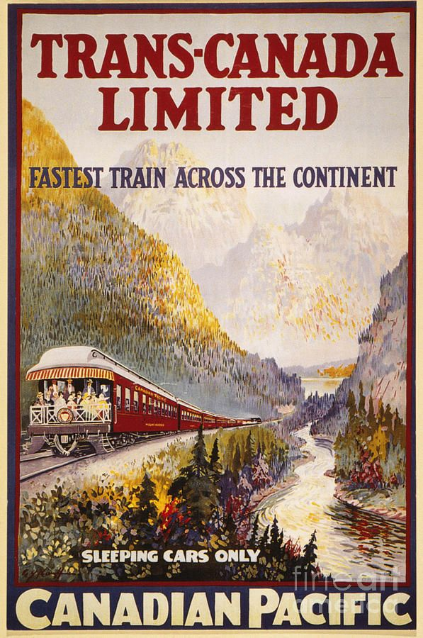 Canadian Pacific Railroad, Trans-Canada Limited, Fine Art Poster