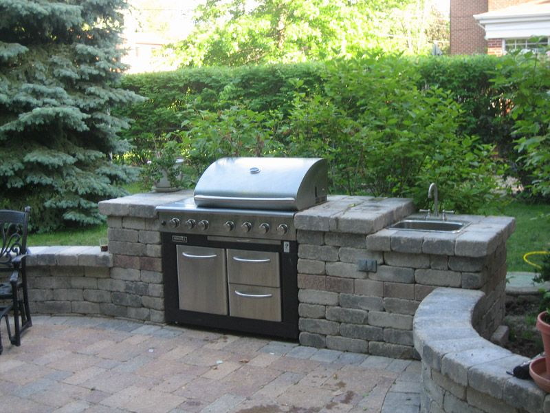 Outdoor stone grill designs chicago brick grill for Outdoor barbecue grill designs