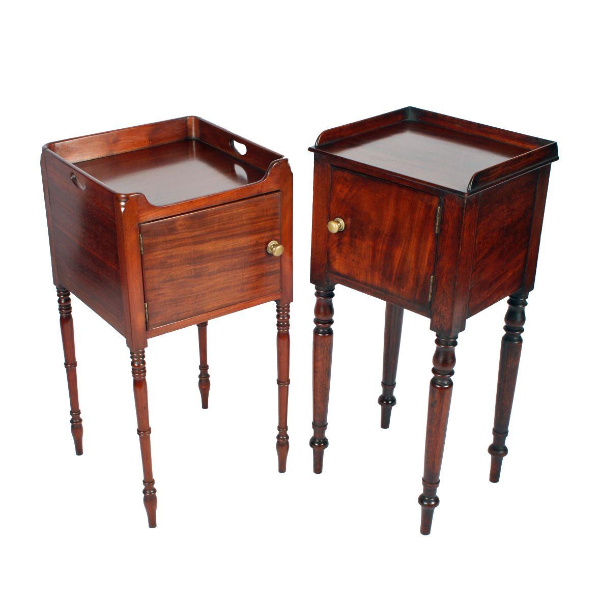 Two Georgian Bedside Cabinets