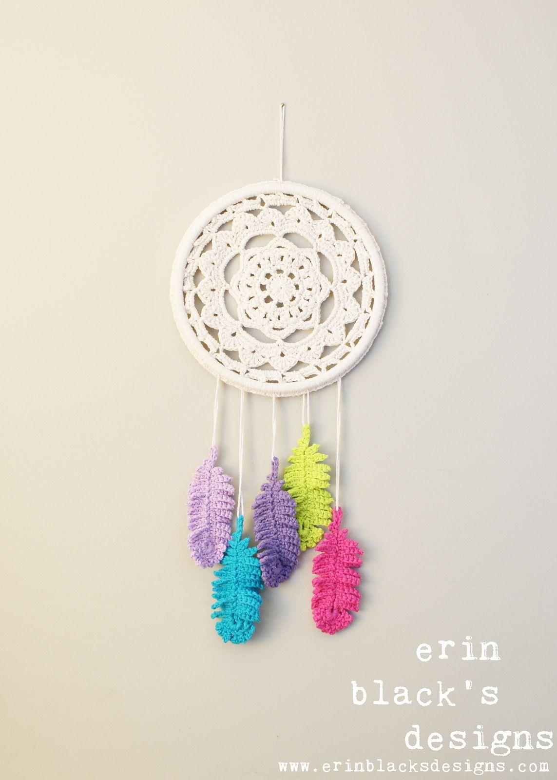 Resultado de imagen para patron pluma atrapasueños crochet | @Macu ...
