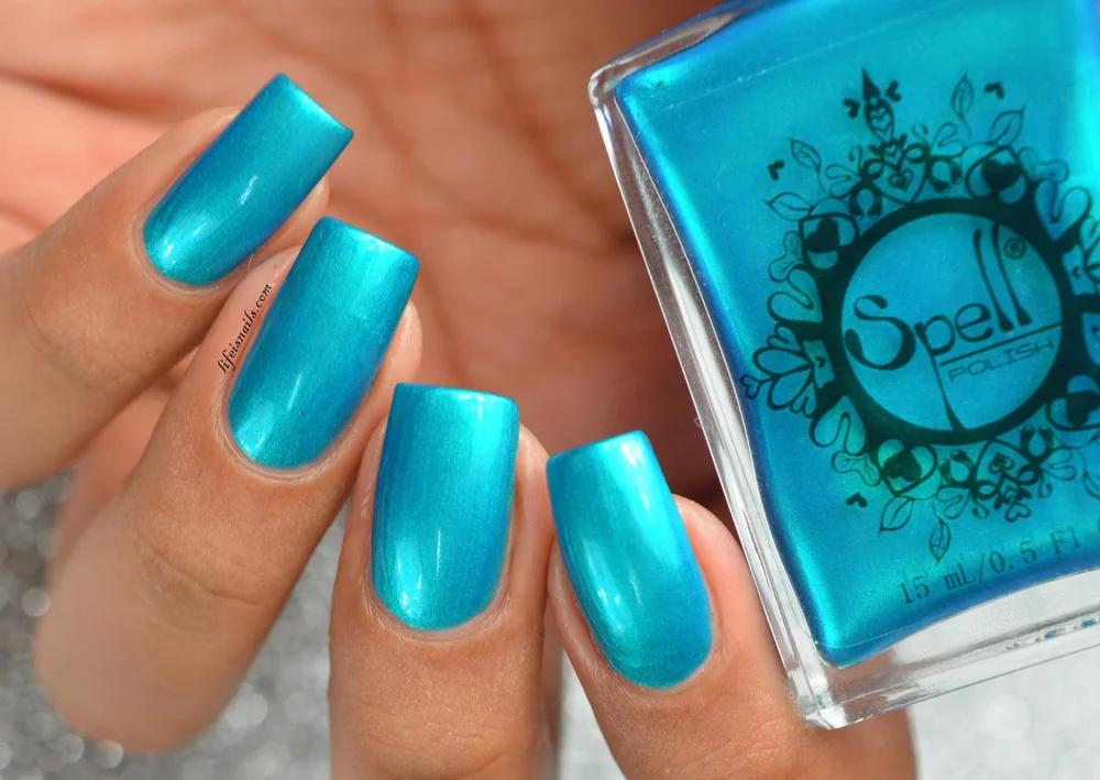 ~ The Edge of the Sky ~ tief blaugrün / türkis / blau Chrom Nagellack! – #chrome #polish #turquoise – #new