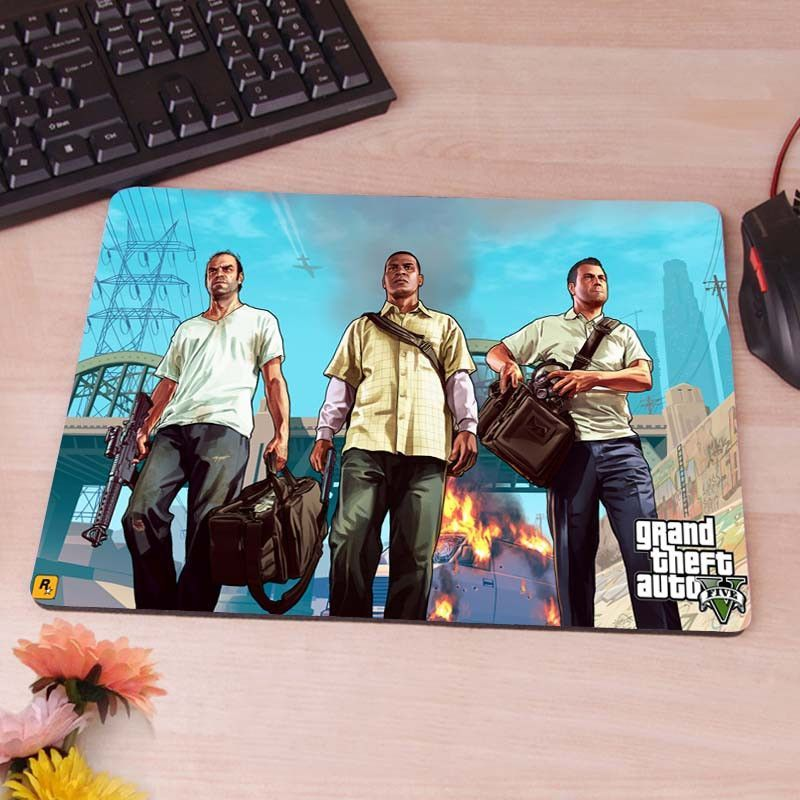 GTA 5 Grand Theft Auto Trevor Franklin Michael Computer Mouse Pad
