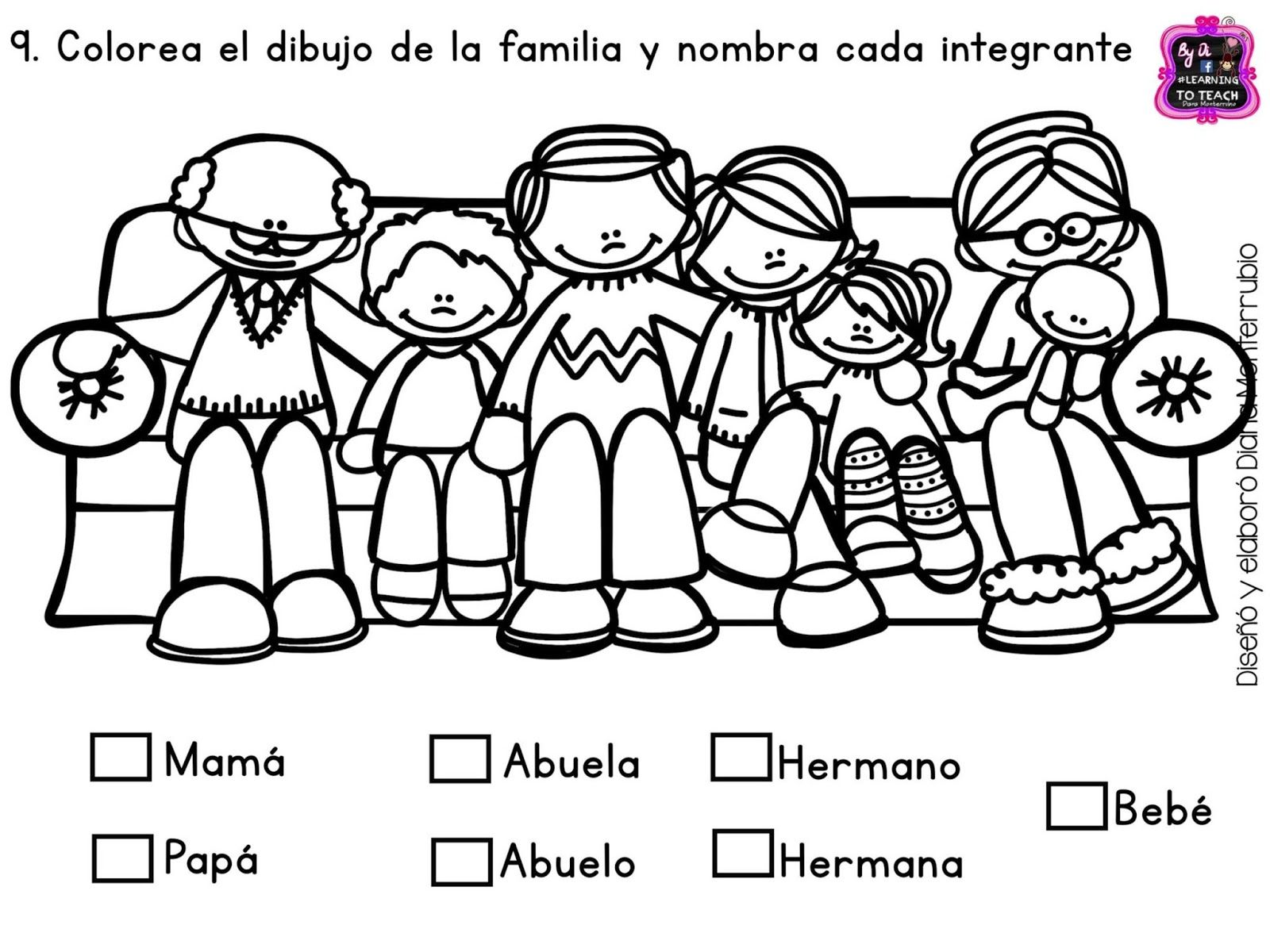 Examen final de primero de preescolar (opción 1) Hasta