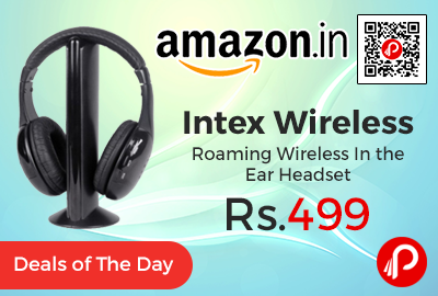 Intex Wireless Roaming Wireless Headset at Rs.499 Only