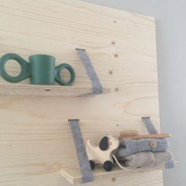 Wandpaneel kinderkamer - wandplank babykamer - Trekdier hondje - Huis & Grietje