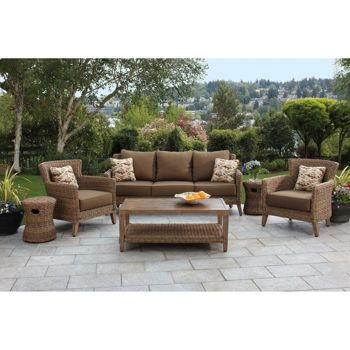 Seagrass 6 Piece Woven Seating Set From Studio By Brown Jordan