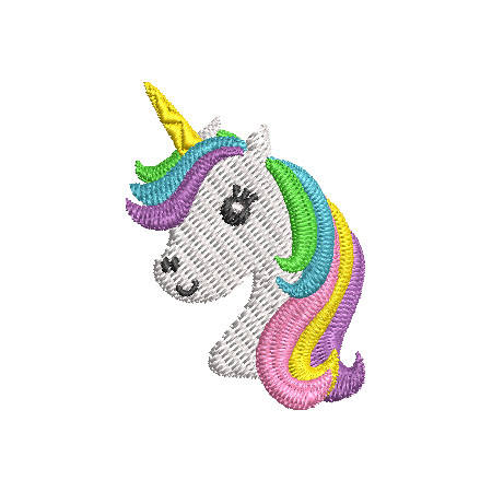 Mini Unicorn Head Embroidery Design Instant Download Products