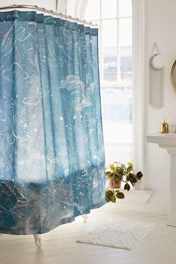Illustrative Zodiac Shower Curtain