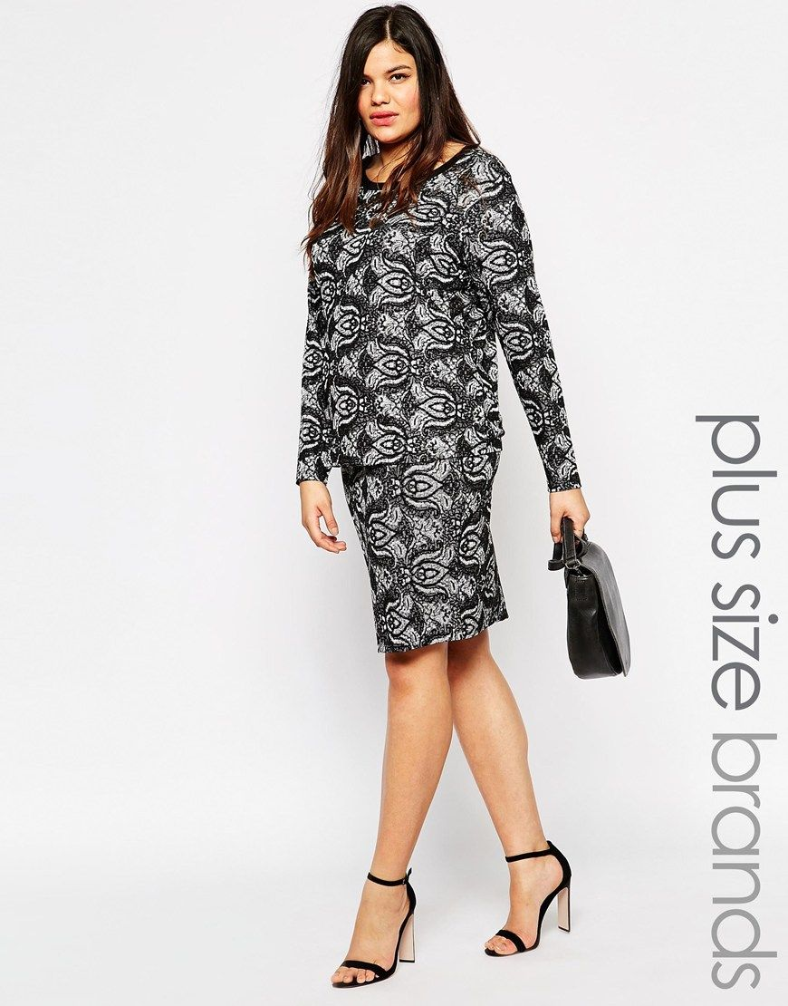 Plus size skirt by Junarose Printed jersey Flattering high rise ...