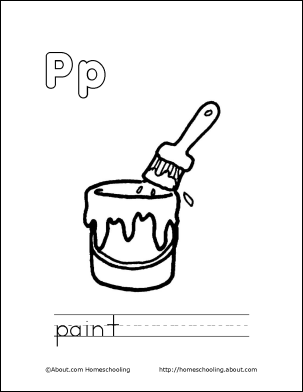 letter p coloring book free printable pages