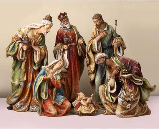 Wooden Hand Carved Nativity Sets ~ Oberammergau hand carved nativity sets our signature