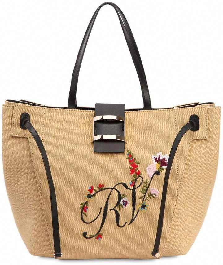 883eb7c381d4 Roger Vivier Large Viv  Embroidered Tote Bag  RogerVivier