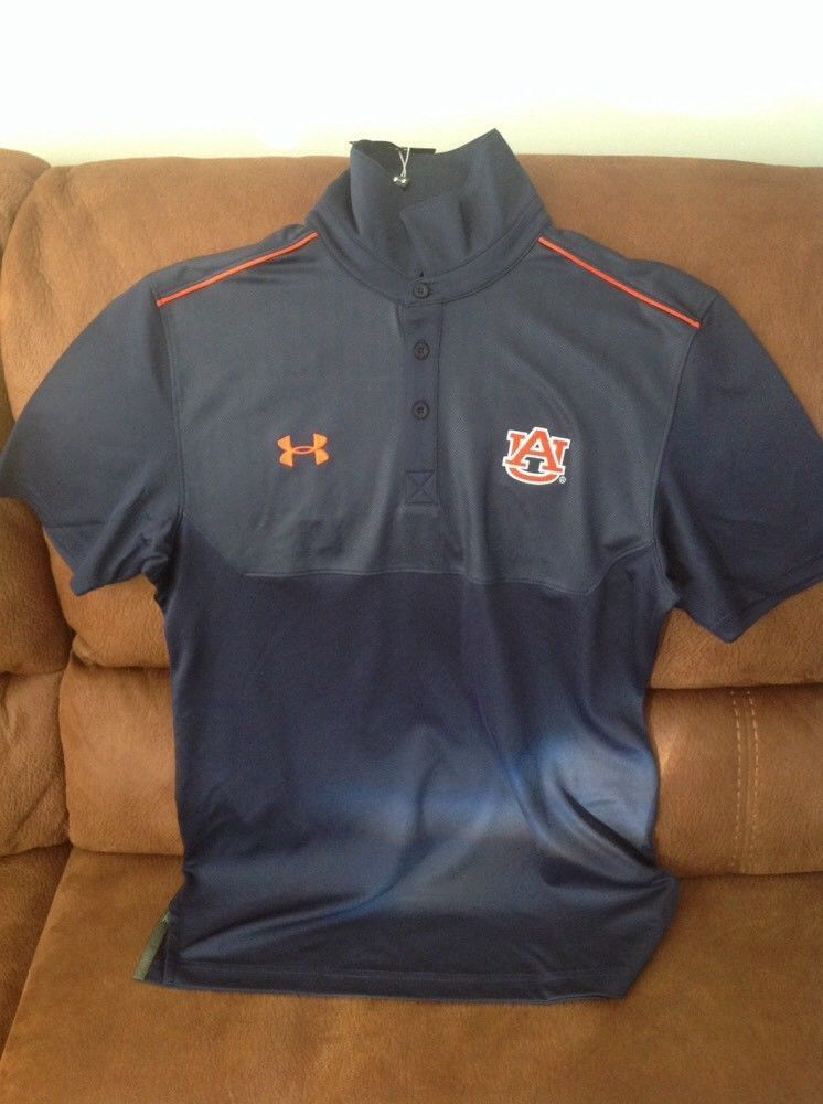 c1ee504c79e auburn tigers under armour ncaa football basketball polo shirt NWT size S  mens