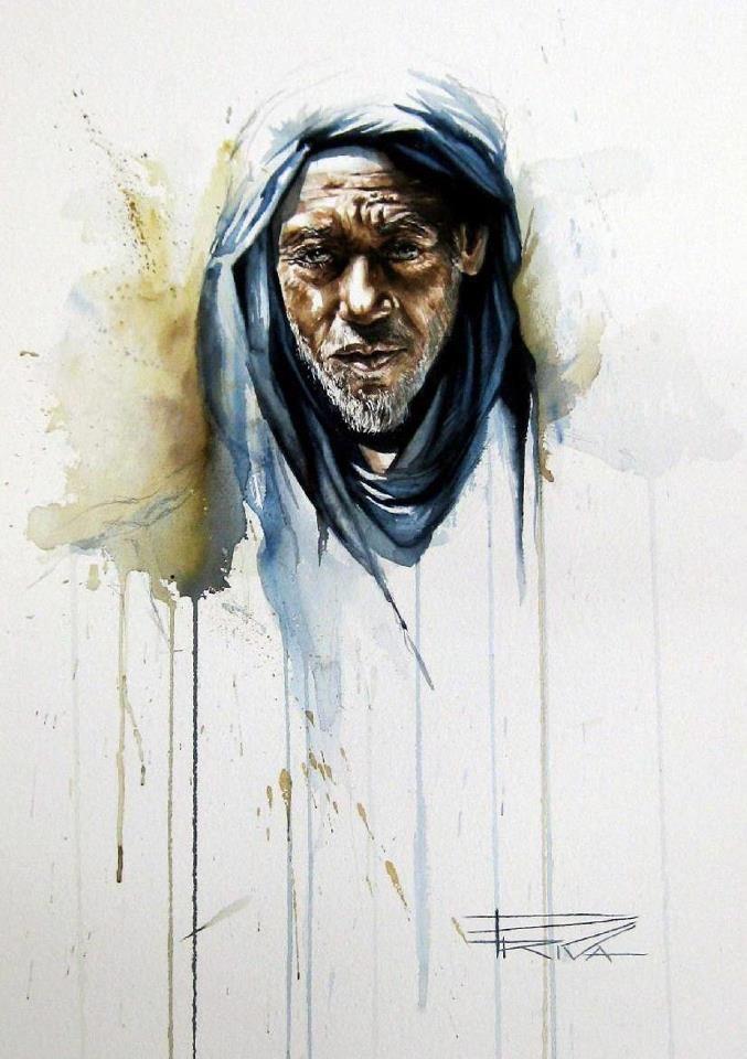 Peinture Portrait D Un Homme By Sonia Privat Portrait Peinture