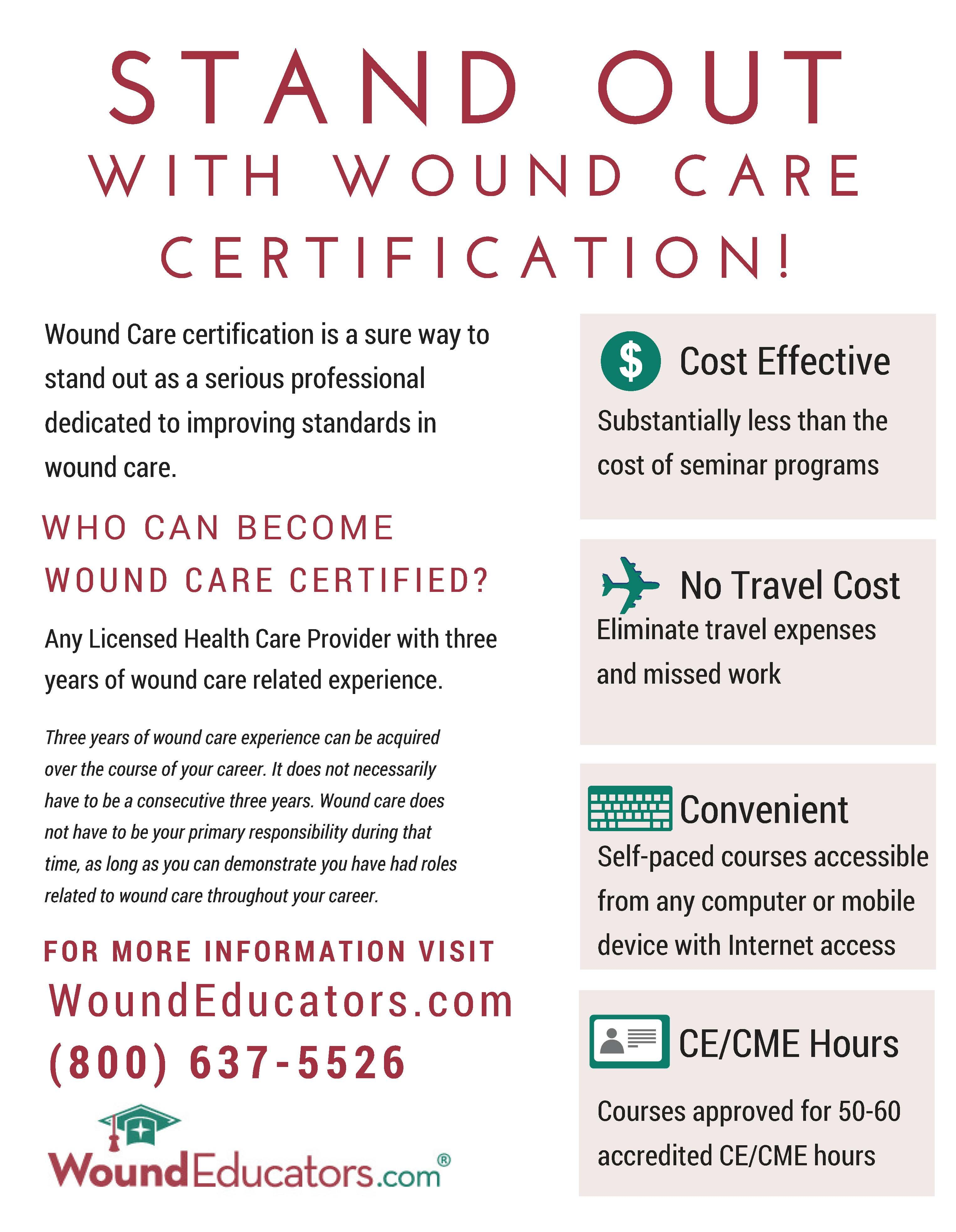 Pin By Woundeducators On Wound Care Certification Wound Care Dedication Travel Cost