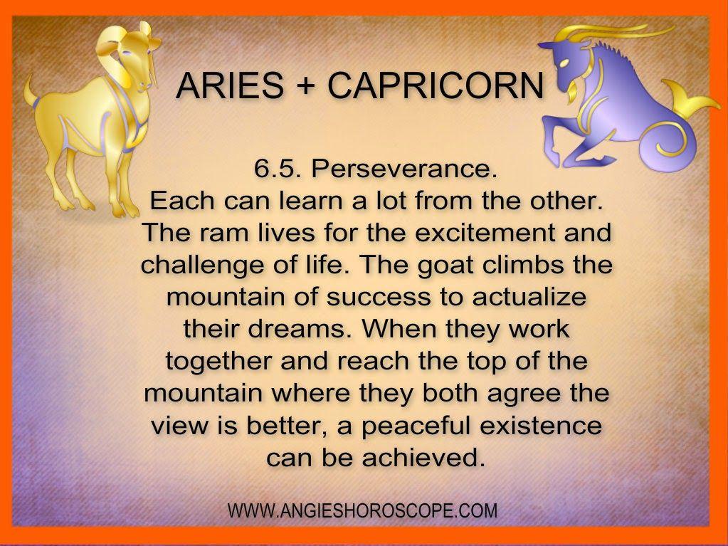ARIES PLUS SAGITTARIUS COMPATIBILITY | Aries and capricorn