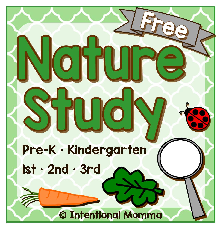 Free Printable Nature Study Pre K Through 3rd Grade