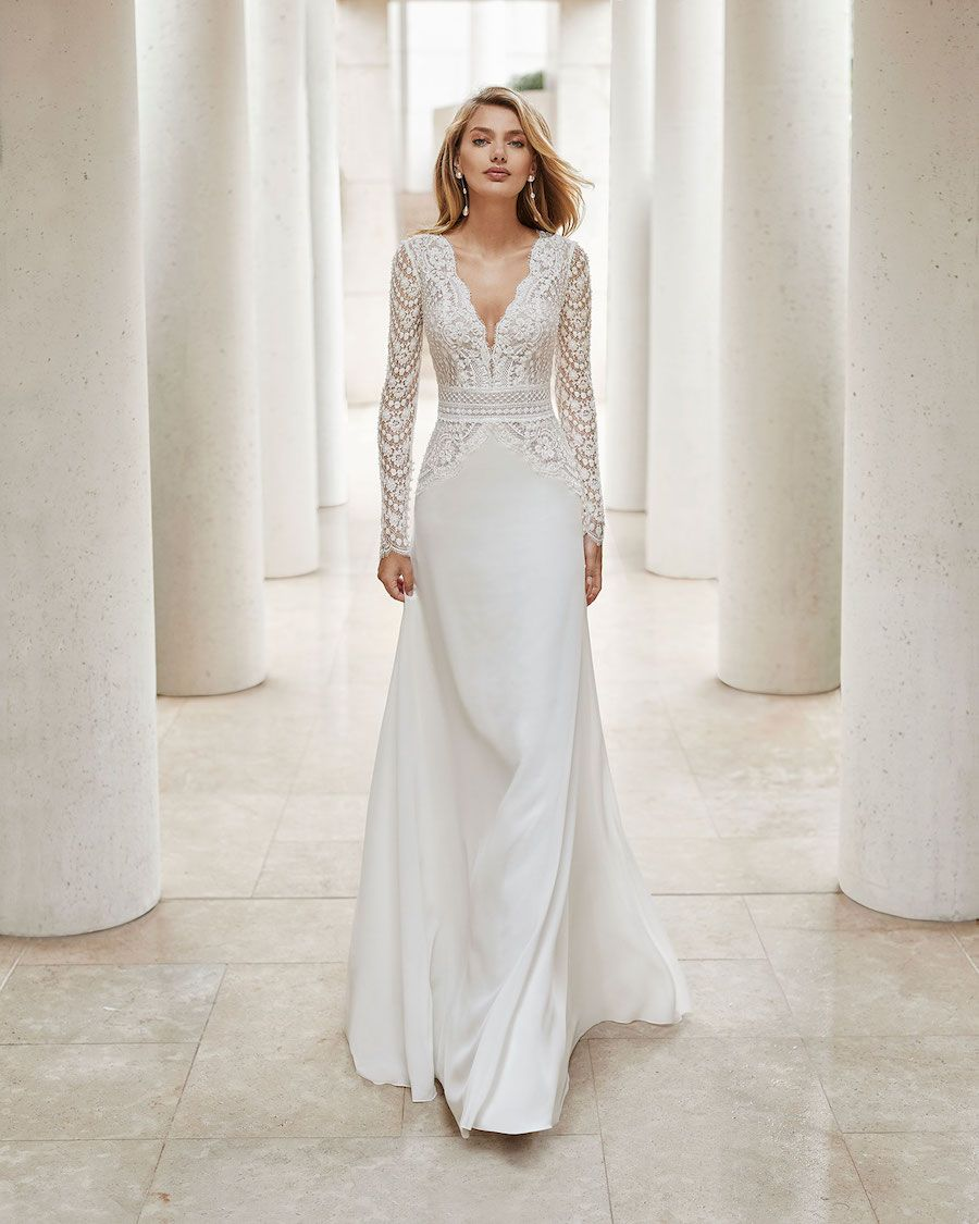 Rosa Clara Wedding Dresses From The Stunning 2020 Couture Collection Modwedding Long Sleeve Wedding Dress Lace Wedding Dress Long Sleeve Rosa Clara Wedding Dresses