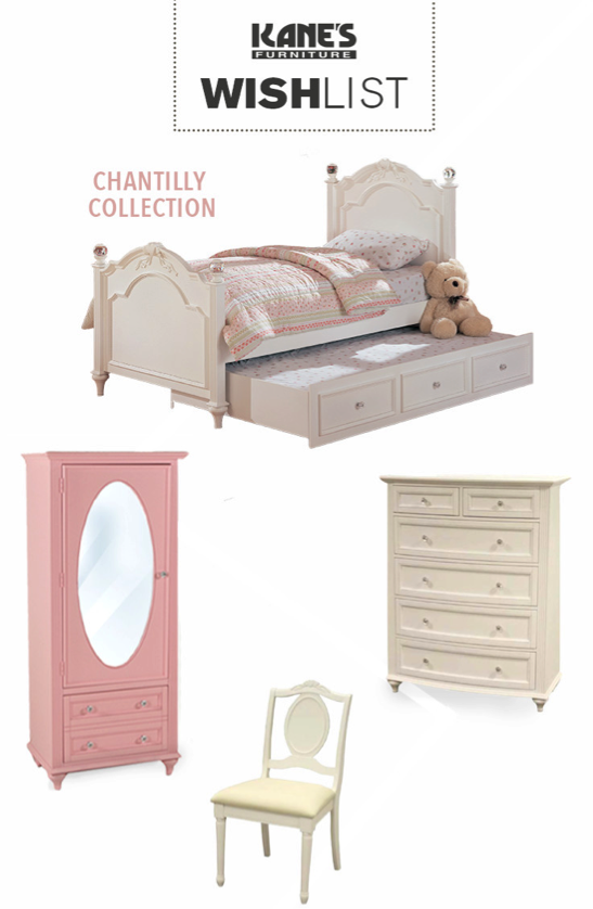 Give your child the magical room they've always wished for with the Chantilly Twin Trundle bed collection! Made of Asian hardwoods and masterfully created with an eye for detail, your little one will feel like they're living in their own special kingdom. Whether you dress it up in bright white, or keep it pretty in pink, you both will live happily ever after.