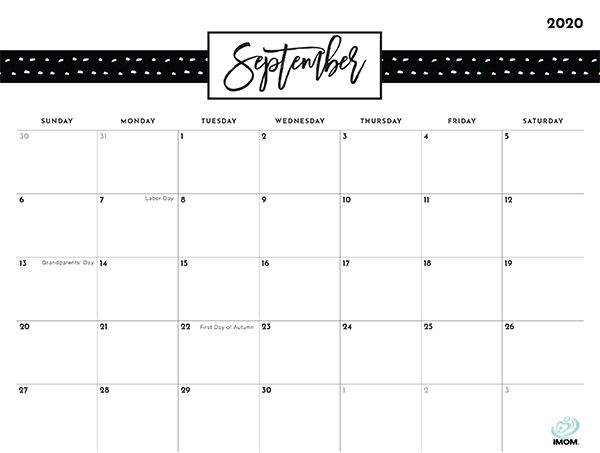 2020 and 2021 Pretty Patterns Printable Calendar for Moms ...